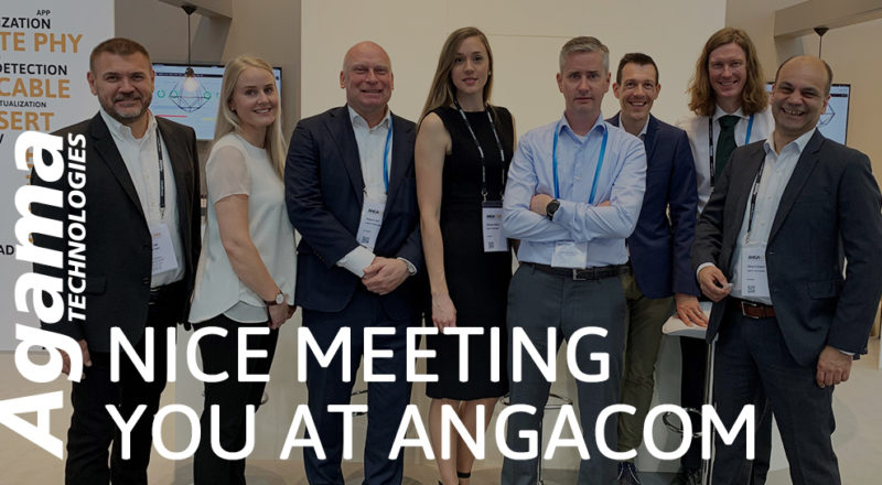 Agama Technologies crew at ANGACOM2019